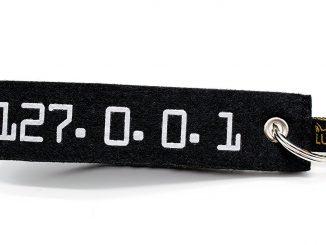 Geschenk für Informatik Studenten: Filz Schlüsselanhänger - Eine Nahaufnahme von einem Hut - Schlüsselanhänger