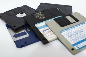 Disketten Stapel