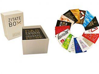 Zitate-Box als Geschenk für Psychologie-Studenten - Eine Nahaufnahme von einer Box - Geschenk