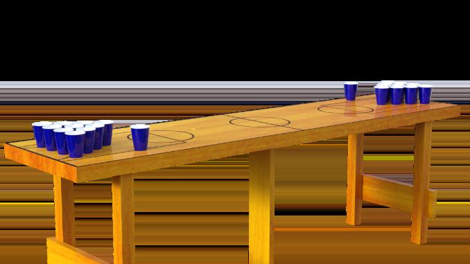 Beer Pong Becher Tisch